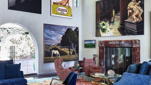 Interior of Sam Simon's house